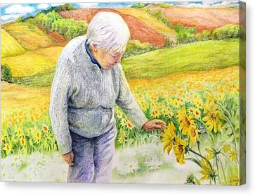Canvas Print featuring the painting Land  Life And Grace by Ping Yan