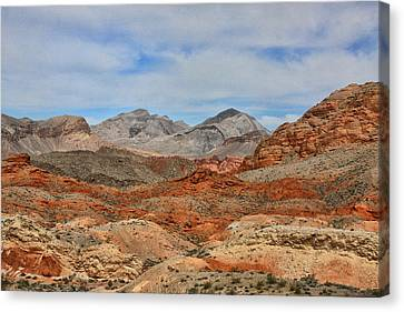 Canvas Print featuring the photograph Land Of Fire by Tammy Espino