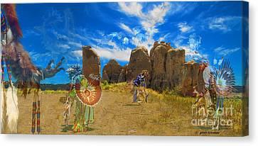 Giselaschneider Canvas Print - Land Of Spirits ... Montana Art Photo by GiselaSchneider MontanaArtist
