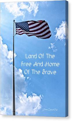 Land Of The Free Canvas Print by Joann Copeland-Paul