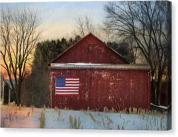 Land Of The Free Canvas Print by Lori Deiter