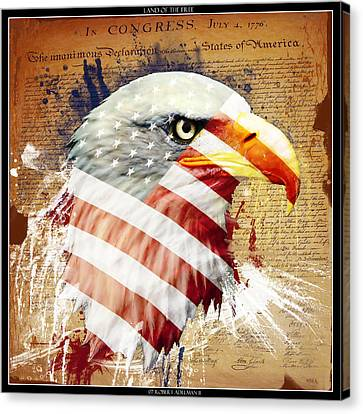 Independance Day Canvas Print - Land Of The Free by Robert  Adelman