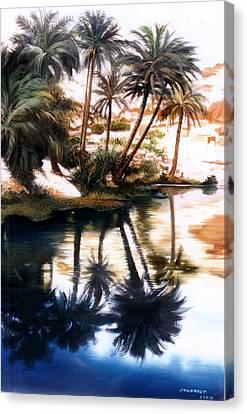 Canvas Print featuring the painting Land Scape by Chonkhet Phanwichien