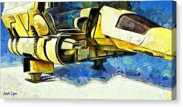 Landed Imperial Shuttle - Pa Canvas Print by Leonardo Digenio