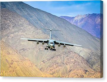 Landing At Leh Canvas Print