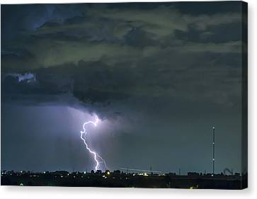 Canvas Print featuring the photograph Landing In A Storm by James BO Insogna