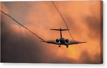 Landing In L.a. Canvas Print by April Reppucci