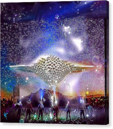 Landing Party Canvas Print by Russell Pierce