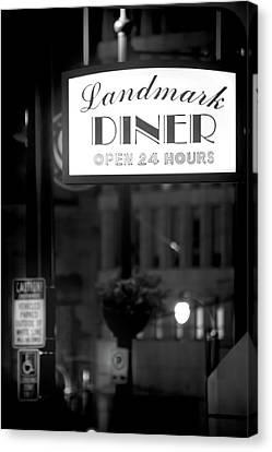 Landmark Diner Canvas Print