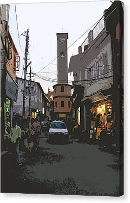 Landour Clock Tower Canvas Print by Padamvir Singh