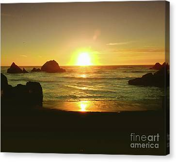 Lands End Sunset-the Golden Hour Canvas Print