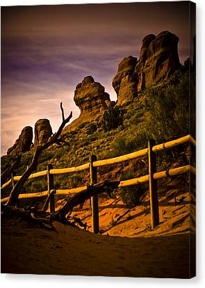 Landscape Arch 3 Canvas Print by Mickey Clausen