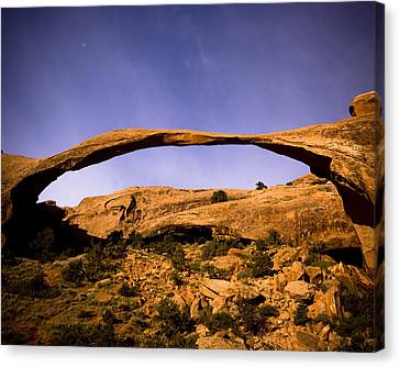 Landscape Arch Canvas Print by Mickey Clausen