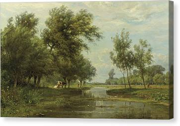 Landscape At Alblasserdam Canvas Print