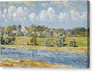 Landscape At Newfields, New Hampshire Canvas Print by Childe Hassam