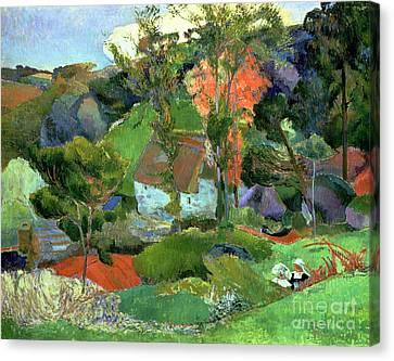 Landscape At Pont Aven Canvas Print