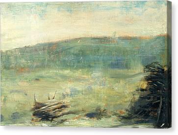 Seurat Canvas Print - Landscape At Saint-ouen by Georges-Pierre Seurat