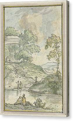 Landscape By The Lake Canvas Print by Celestial Images