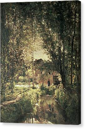 Riviere Canvas Print - Landscape by Charles Francois Daubigny