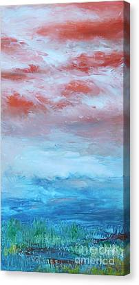 Canvas Print featuring the painting Landscape El Natural by Terri Thompson