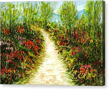 Canvas Print featuring the painting Landscape by Harsh Malik