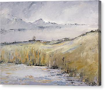 Landscape In Gray Canvas Print by Carolyn Doe