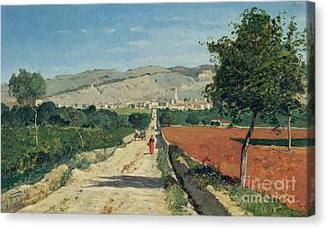 Figures Canvas Print - Landscape In Provence by Paul Camille Guigou