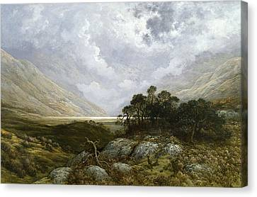 Landscape In Scotland Canvas Print by Gustave Dore