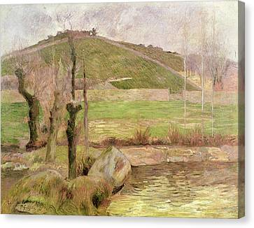 Landscape Near Pont Aven Canvas Print by Paul Gauguin