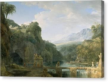 Landscape Of Ancient Greece Canvas Print by Pierre Henri de Valenciennes