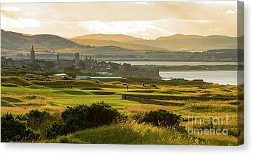 Landscape Of St Andrews Home Of Golf Canvas Print
