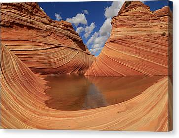 Landscape Of The Wave Reflecting Pool Canvas Print