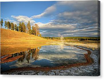 Landscape Of Yellowstone Canvas Print by Philippe Sainte-Laudy Photography