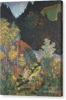 1848 Canvas Print - Landscape by Paul Gauguin