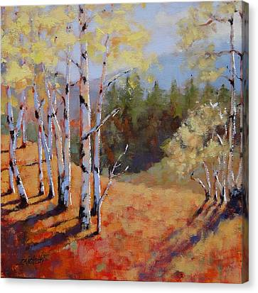 Canvas Print featuring the painting Landscape Series 1 by Laura Lee Zanghetti