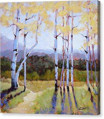 Canvas Print featuring the painting Landscape Series 2 by Laura Lee Zanghetti