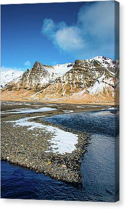 Canvas Print featuring the photograph Landscape Sudurland South Iceland by Matthias Hauser
