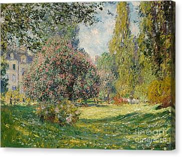 1876 Canvas Print - Landscape  The Parc Monceau, 1876  by Claude Monet