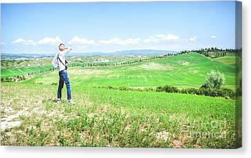 Landscape Tuscany Hills Canvas Print by Luca Lorenzelli