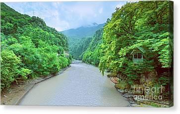 Landscape View From A Bridge Canvas Print