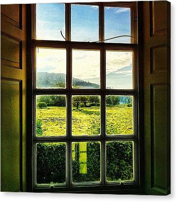 #landscape #window #beautiful #trees Canvas Print by Samuel Gunnell