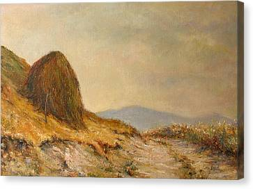 Landscape With A Hayrick Canvas Print by Tigran Ghulyan