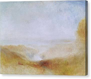 Landscape With A River And A Bay In The Distance Canvas Print by Joseph Mallord William Turner