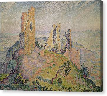 Signac Canvas Print - Landscape With A Ruined Castle  by Paul Signac