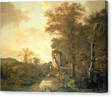 1622 Canvas Print - Landscape With Arched Gateway by Adam Pynacker