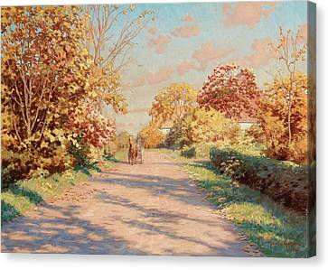Landscape With Horse And Cart Canvas Print