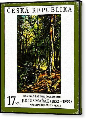Landscape With Marsh Canvas Print