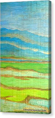 Landscape With Mountains Canvas Print by Anna Folkartanna Maciejewska-Dyba