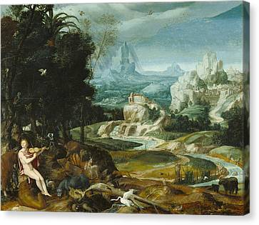 Landscape With Orpheus Canvas Print by Unknown