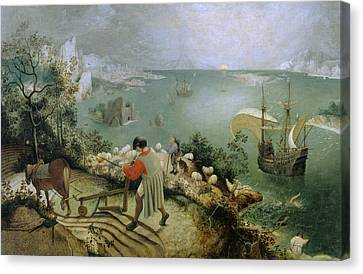 Bruegel Canvas Print - Landscape With The Fall Of Icarus by Pieter Bruegel the Elder